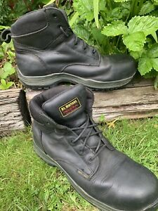 dr martens airwair steel toe cap black leather Boots in size UK 9