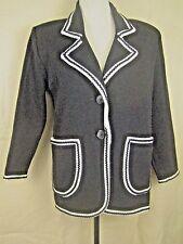 Givenchy Couture Paris Vintage Black Wool Knit Cardigan Jacket 12 (44)