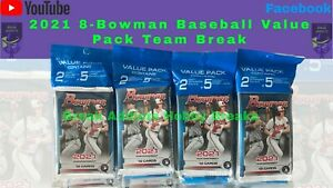 San Francisco Giants 2021 Bowman Baseball 8 Value Pack Team Break #113