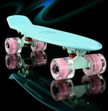 22'' Flashing Led Skateboard Complete Street Long Board Kids Penny Style Scooter