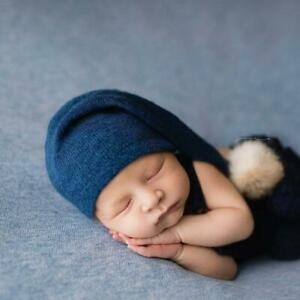 Newborn Hat Baby Photo Studio Photography Props Cap Baby Hat Beanie Z6U3