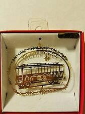 Trolley Pigeon Forge Brass Christmas Ornament