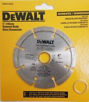 "DEWALT 4"" Segmented Diamond Blade Turbo DW47402L Dry Cutting 7/8"" & 5/8"" Arbor"