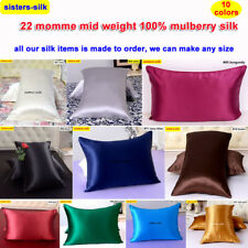 1pc 22mm 100% Mulberry Silk Pillow Case Cover End Pockets No Zipper Sisters-Silk