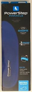 Powerstep Pinnacle Full Length Shoe Insoles Arch Support Blue W: 7-7.5/ M: 5-5.5