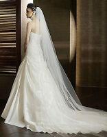 Schleier Brautschleier 1 Lage SOFT 360 cm 1-lagig Hochzeit Braut Lang Kathedrale