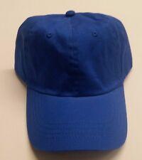 12 x Adult Baseball Caps - Royal Blue with Adjustable Strap 100% Cotton NIB