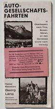 760 Autofahrten in Oberbayern Tirol Bozen Meran Gardasee Venedig Italien 1931
