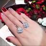 2Ct Round Cut VVS1 Diamond Flower Drop & Dangle Earrings 18K White Gold Finish