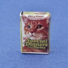 Miniature Dollhouse Box of Cat Food 1:12 Scale New