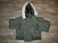 Vintage 1980's N2B Hooded Parka Jacket Snorkel Military Alpha USAF Men's Medium