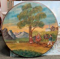 1985 William Tell Themed Painted Wooden Target Art (Salzburg, Austria)