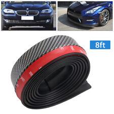 2.5M Carbon Fiber Look Front Bumper Lip Splitter Spoiler Body Trim Kit Protector
