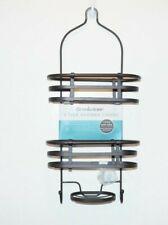 Brookstone Hanging Shower Caddy Rust Free Satin Bronze Heavy Gauge 3 Shelf Brown