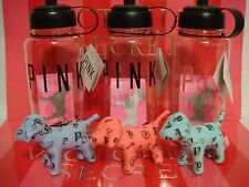 ONE VICTORIA'S SECRET PINK MINI DOG & WATER BOTTLE PINK RARE!!!!