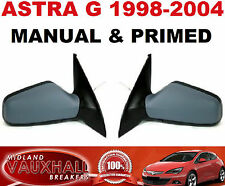 VAUXHALL ASTRA PAIR OF MANUAL CABLE PRIMED WING MIRRORS DRIVERS PASSENGER NEW