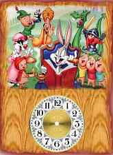 Walt Disney Bugs Bunny and Fairy Tale Friends Wall Clock  Makes Great Gifts