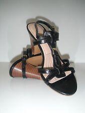 New Easy Spirit Quanna T-Strap Dress Black Leather Sandal Shoe  Size 7M $79