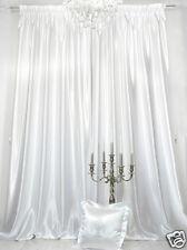 1 Vorhang 150 x 245 cm aus reinweißem, hochwertigen Vorhang-Satin, sehr edel