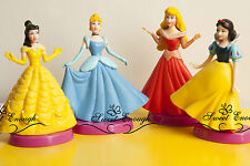 4 Disney Princess Figure Aurora Belle Snow White Cinderella Figures cake toppers