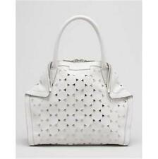 Alexander Mcqueen White Leather Triangle Studded De Manta Demanta Tote Bag $1595