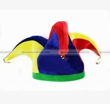 Funny Multicolor Jester Clown Costume Hat Mardi Gras Halloween Party 70214305