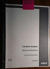 Case 1042 1052 Draper Header Combine Adapter Set-Up Inst Manual Rac 7-90274 1/02