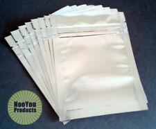 50 Ziplock Mylar Bags,  3.5x5 Packaging and Storage, Heat Seal Tab