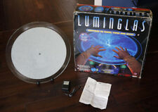 "Luminglas 20"" Plasma Blue Light Glass Plate Lamp • Crackle Tube Sound/Touch CIB"