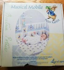 Nib Luv n care Peter Rabbit Baby Musical Mobile Provides Motion and Sound