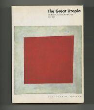 1992 Massimo Vignelli GREAT UTOPIA: SOVIET AVANT-GARDE 1915–32 catalog 748 pgs