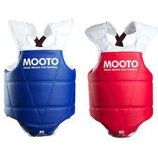 Mooto TKD Body Protectors 1 Red 1 Blue Set Chest Guard WTF Taekwondo Hapkido MMA
