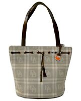 Dooney & Bourke Jacquard Signature Tote Shoulder Bag Handbag Purse