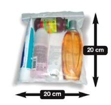 5 Pochettes Sachets plastique Zip 200 x 200 mm  pour les liquides avion aéroport