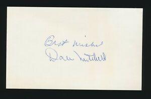DALE MITCHELL (1946-1956 Cleveland Indians) -Autographed 3x5 Index (d.1987)