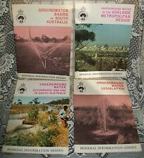 4 x 1970s VINTAGE 'MINERAL INFORMATION SERIES' BOOKLETS (SA Dept of Mines)
