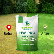 2KG GARDENERS DREAM HARD-WEARING PREMIUM TOUGH BACK GARDEN LAWN GRASS SEED