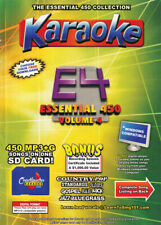 Karaoke Chartbuster Essential 450 Songs SD-Card Vol-4 Country,Standars,R&B,Rock