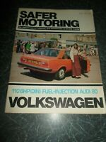 VOLKSWAGEN SAFER MOTORING June 1976 Vintage Illustrated Magazine + Adverts