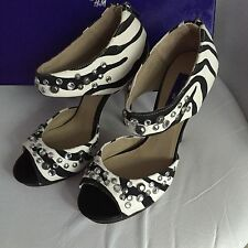 Jimmy Choo for h&m Talons Hauts Escarpins EUR TAILLE 39 size US 8 UK 6 Zebra Design NEUF