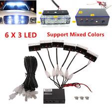12V Car SUV 18 LED Strobe Emergency Flashing Police Warning Grill Light Lamp Kit