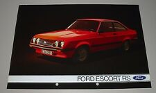 Auto Prospekt Katalog Ford Escort II RS Brochure Stand August 1975!