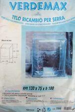 Verdemax telo ricambio per serra a casetta grande 130 x 75 x 180 h cm 2553 EDERA
