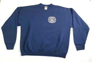 VTG Made in USA Parker Fire Dept. Navy Blue Crewneck Sweatshirt