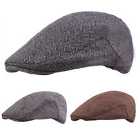 Mens Fashion High Quality Warm Driving Golf Cap Newsboy Cabbie Casual Beret Hat