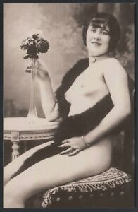 AB5745 Erotic - Female Nude - Belle Epoque - Replica Card Postal
