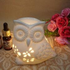 Ceramic Owl Oil Burner Tea Light Candle Holder Wax Melt Burner Aromatherapy Home