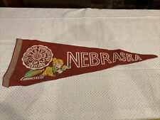 1960's Vintage Nebraska Cornhuskers Lincoln Big Ten University Pennant 11.x27.5