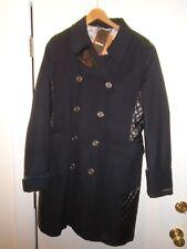 Barbour Wool Cashmere Blend Lieutenant Coat Navy Blue NWT U.S. Size 12 $699