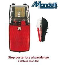 0155 - Stop/Fanale posteriore al parafango a batteria per Bici 26-28 Condorino